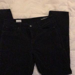 Gap light weight corduroy dark black jean Sz 31